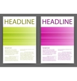 design magazine template vector image