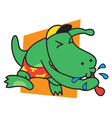 Dinosaur blow whistle vector image vector image