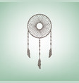 dream catcher sign brown flax icon on vector image vector image