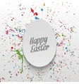 Easter realistic paper Egg greeting Label vector image vector image