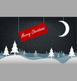 excellent postcard for christmas and new year vector image