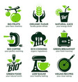 flat icon set for green eco kitchen vector image vector image