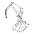 floating crane vector image