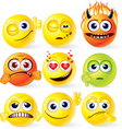 funky smilies set2 vector image vector image
