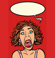funny woman screams strange facial expressions vector image vector image