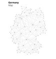 germany in blockchain technology network style vector image vector image
