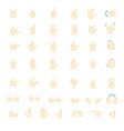 Gestures emoji vector image vector image