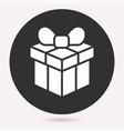 gift box surprise icon birthday present vector image