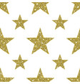 gold glitter stars background vector image vector image