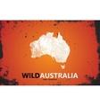 Grunge Australia logo Australia logo design Wild vector image