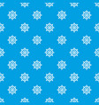 handwheel pattern seamless blue vector image