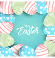 happy easter with eggs background vector image vector image