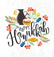 Happy Hanukkah lettering typography collection of vector image vector image