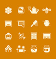 honey apiary icons set vector image vector image