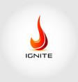ignite fire logo design symbol vector image