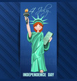independence day card fourth of july vector image vector image