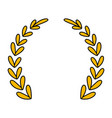 laurel wreath decorative emblem vector image