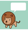 Lion Talk vector image vector image
