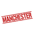 Manchester red square stamp vector image vector image