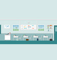 modern classroom interior with blackboard vector image vector image
