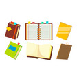 notebook set office personal dairy notepad vector image