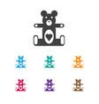 Of kid symbol on teddy-bear