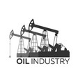 oil industry logo tower oil exploration vector image vector image