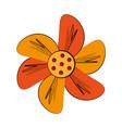 orange flower icon image vector image