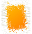 Orange music background vector image