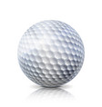 realistic golf ball isolated on white background vector image vector image