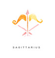 sagittarius zodiac sign part of zodiacal system vector image