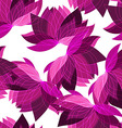 Seamless floral pattern with lotus vector image vector image