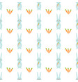 seamless pattern with cute rabbits and vector image