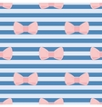 Seamless pattern with pastel pink bows on stripes vector image vector image