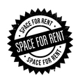 Space For Rent rubber stamp vector image vector image