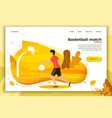 sporty man playing basketball vector image
