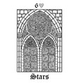 stars tarot card from lenormand gothic mysteries vector image