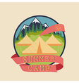 Summer camp adventure badge vector image vector image