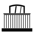window with fence icon simple style vector image
