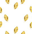 yellow leaf seamless pattern vector image