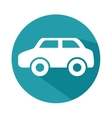 car silhoeutte isolated icon vector image