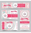 Set of corporate identity templates with doodles vector image
