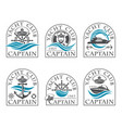 nautical emblems collection vector image