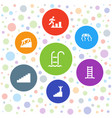 7 step icons vector image vector image