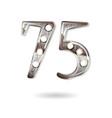 75 years anniversary celebration design vector image vector image
