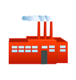 A view of a Factory vector image vector image