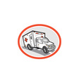 Ambulance Emergency Vehicle Cartoon vector image vector image
