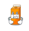 angry package juice mascot cartoon vector image vector image