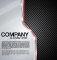 Automotive Chrome Carbon Fiber background vector image vector image