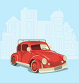 beautiful retro car on the background of the vector image vector image